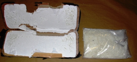 Crystal methamphetamine, or 'Ice,' seized by CNB at Woodlands Checkpoint