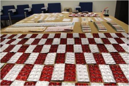 CNB seizure of various drugs and cash