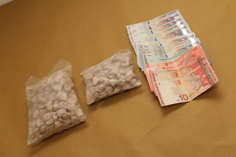 Drugs and money seized in the Yishun operation