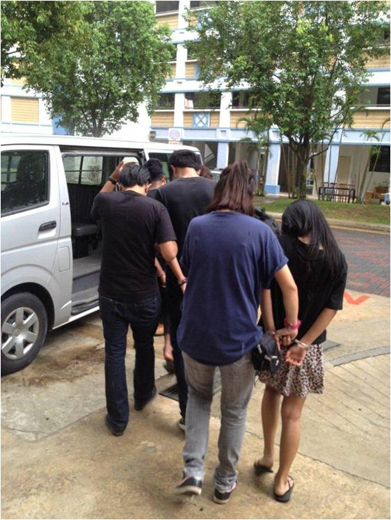 Photo 1: Suspects arrested by CNB