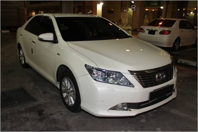 Car in which a packet of heroin was recovered at Tuas Checkpoint