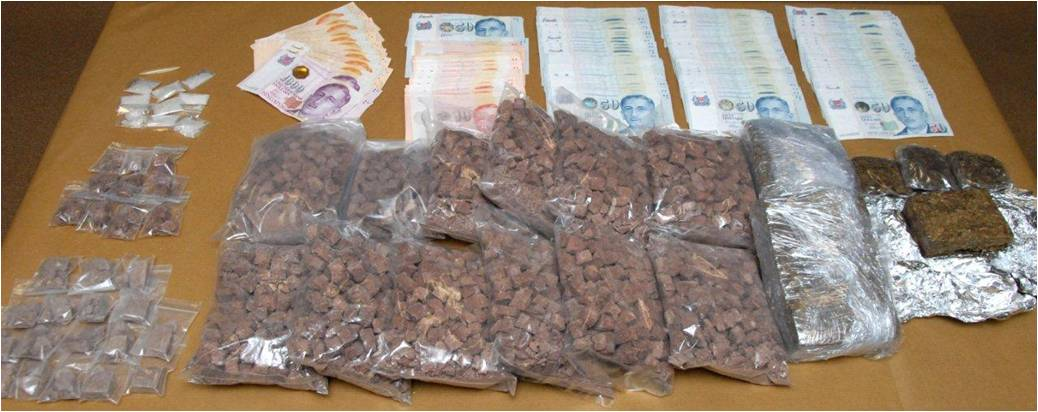 drug and money seized