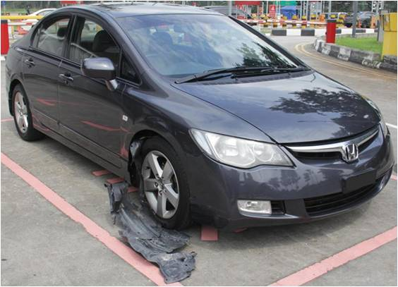 Vehicle related to the drug case on 9 May 2014 seized at Woodlands Checkpoint