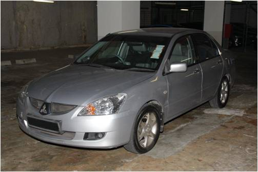 A car that was seized in a CNB operation on 24 July 2014.