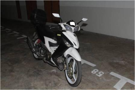 Motorcycle seized in CNB operation on 10 March 2014.