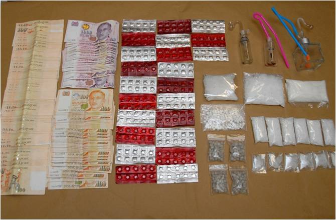 Items seized in CNB operation on 20 March 2014