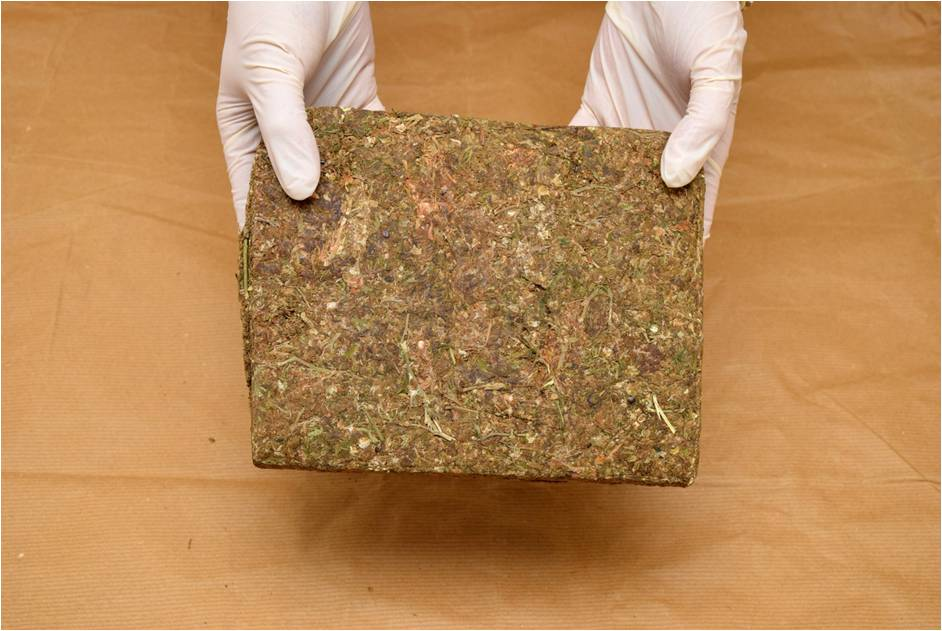 Block of cannabis seized on 22 July 2015 at Woodlands Checkpoint