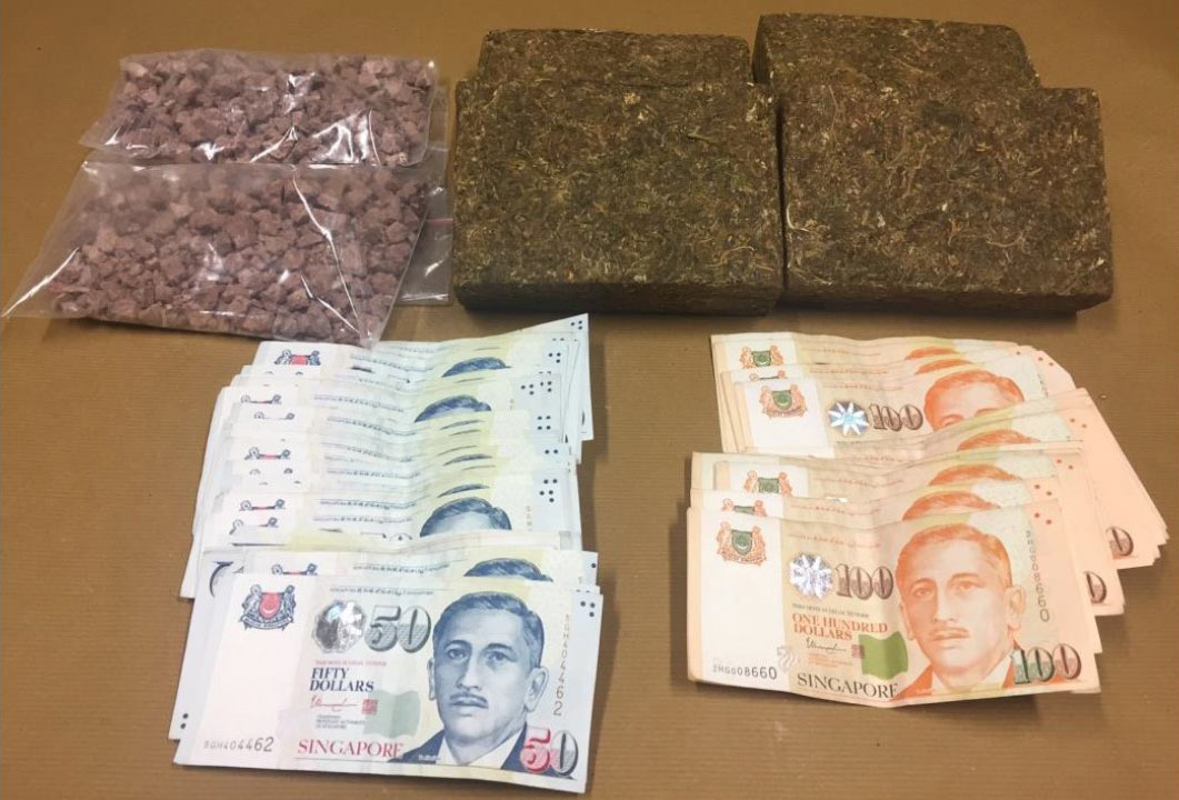 Cannabis, heroin and cash seized in CNB operation on 5 September 2017