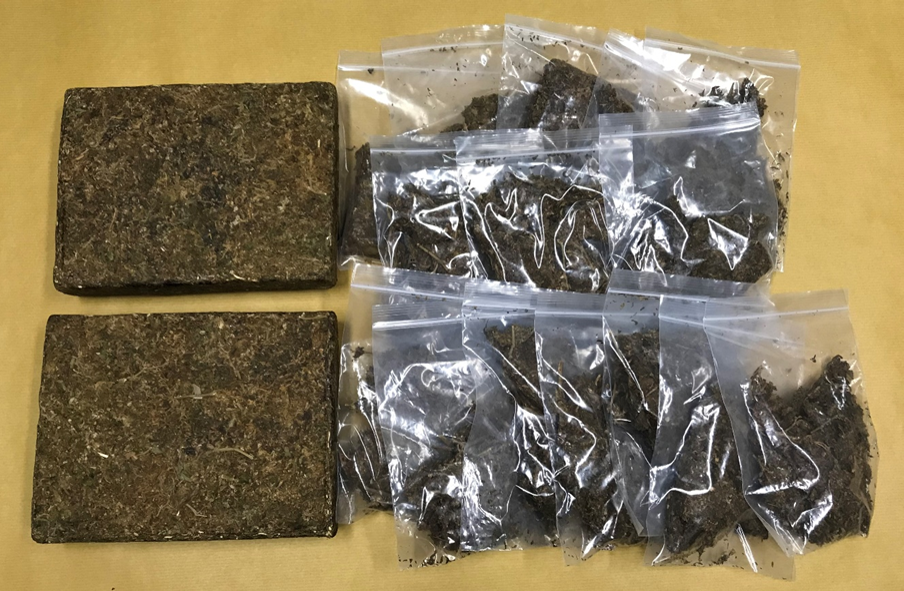 Photo-1 (CNB): Cannabis seized in CNB operation on 11 July 2018.
