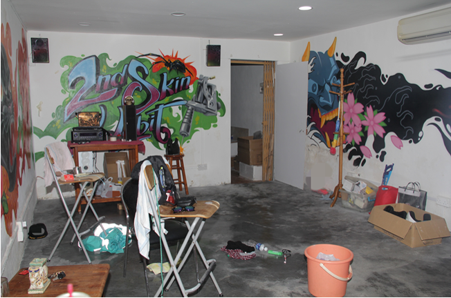 Photo-2 (CNB): View of interior of hideout in the vicinity of Norris Road.