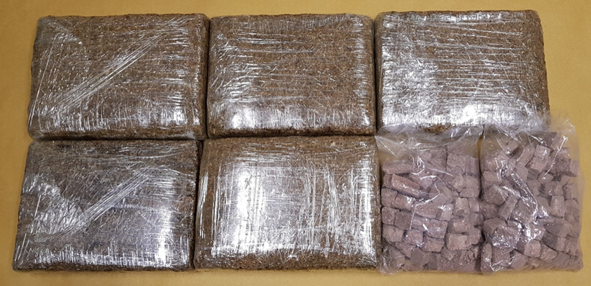 Photo-1 (CNB): Cannabis and heroin seized at Tuas Checkpoint on 25 July 2018.