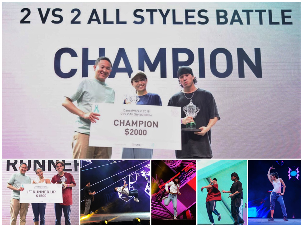 Photo 4 (CNB): Winners of the 2v2 battle and event highlights