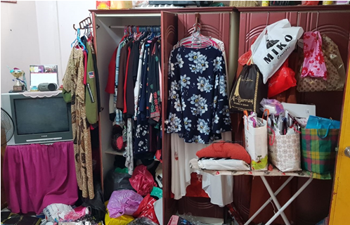 Photo-2 (CNB): Cupboard where a 24-year-old Singaporean female suspect was found hiding within during a CNB operation on 12 February 2018 at Pasir Ris Drive 3.