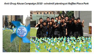 Anti-Drug Abuse Campaign 2010- Windmill planting at Raffles Place Park