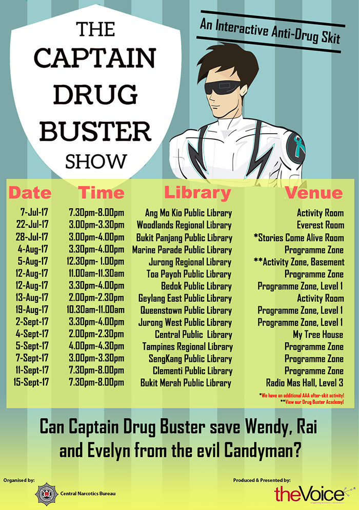 Captain Drug Buster Show Timings and Venue