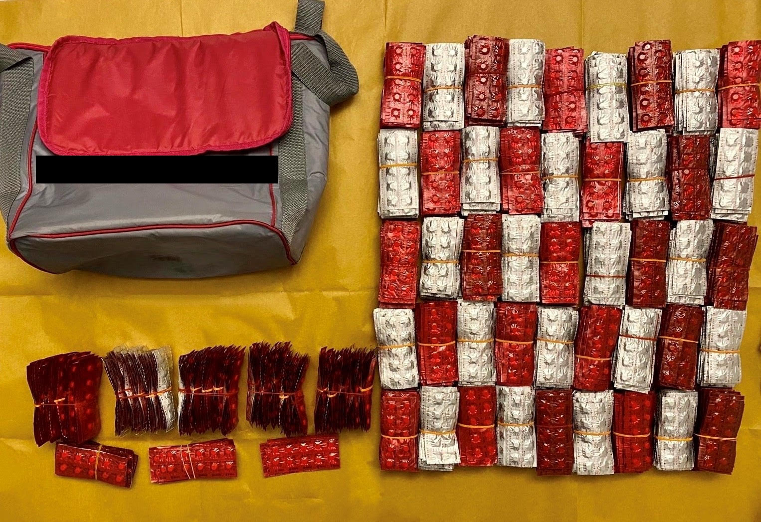 Photo 3 (CNB) - 13,970 Erimin-5 tablets seized from a hotel located in the vicinity of Beach Road.