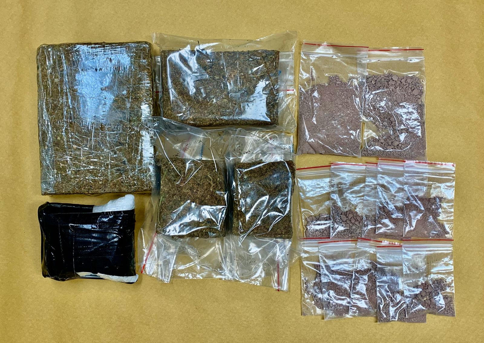 Photo 3 (CNB) – A total of about 550g of 'Ice', about 291g of heroin, and about 2kg of cannabis were seized from the operations in the vicinity of Ang Mo Kio Ave 5, Ang Mo Kio Ave 10, and Bukit Panjang Ring Road.
